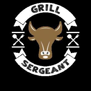 BBQ Dad Geschenk Design Grill Sergeant Barbecue Zitat