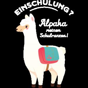 Einschulung, Alpaka Meinen Schulranzen, Schulkind