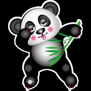 40 Panda dabbing tanzt Bambus