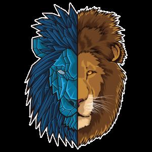 Löwe Geometrie | König des Dschungels| Afrika