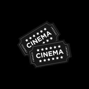 Kino Karten Tickets Symbol Sterne Film Vorstellung