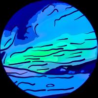 Abstrakter Stil Aurora Borealis absstd