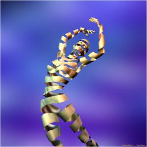 Surrealer Tänzer