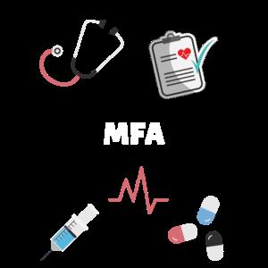 Arzthelferin MFA Stethoskop Pillen QM Spritze