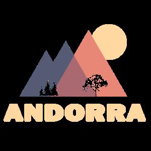 Andorra abstrake Berge Geschenk