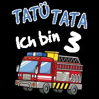 Kinder 3 Geburtstag Shirt Feuerwehr Jungen 3 Jahre