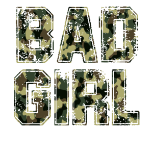 Bad girl camouflage Böses Mädchen Bundeswehr