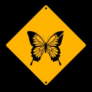 Stop Schmetterling Schild