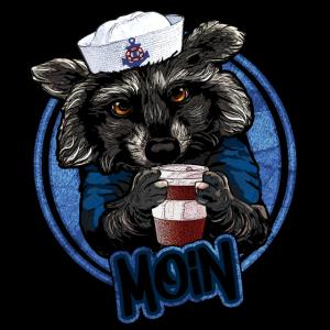 Koffeinfreudiger Waschbär | Yolo-Artwork