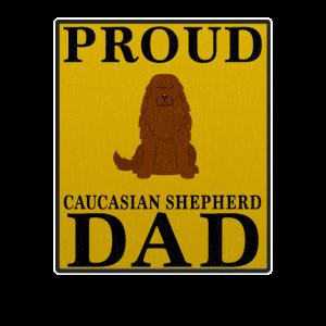 Stolzer kaukasischer Schäfer Dad