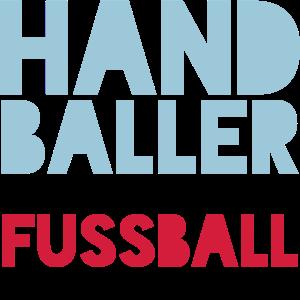 Handballer spielen Fussball zum Warm machen