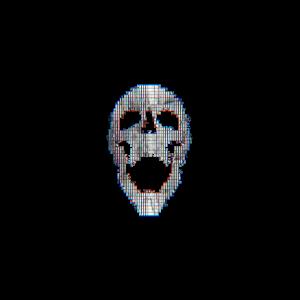 Glitch Art Skull