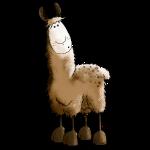Drolliges Lama - Alpaka