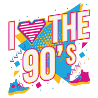 I Love 90s 90er Jahre Motto Party Outfit Geschenk