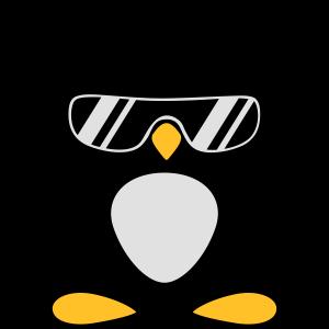 Pinguin mit Kopfhörer