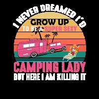 Ich werde erwachsen, um eine super sexy Camping Lady zu sein