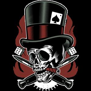 Outlaw Skull / Totenkopf Glückspiel Geschenkidee