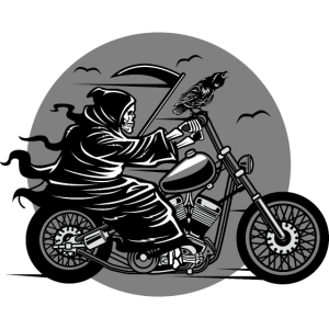 Sensenmann Biker / Tod Motorrad Horror Geschenk