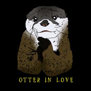 Otter in Love Geschenkidee für Otter Freunde & Fan