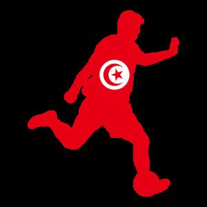 Fußballer Tunesien Fahne Flagge Spieler Tunesier