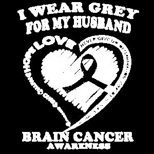 Brain Cancer Awareness Husband Shirt