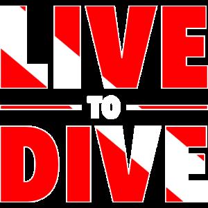 Leben zum Tauchen Meer Taucher Flagge Geschenk
