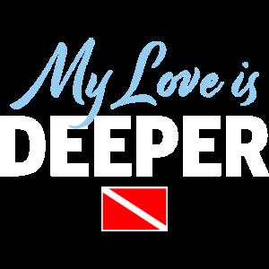 Liebe ist Tiefer Taucher Flagge Geschenk
