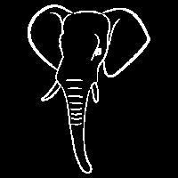 Elefantenkopf weiss