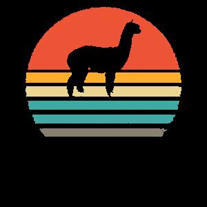 Lama Sonnenuntergang Geschenk Alpaka T-Shirt