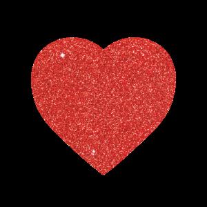 Roter Glitzereffekt-Herz-Valentinstag-Mann-Frauen