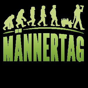 Evolution Lustiges Männertag Design Bollerwagen