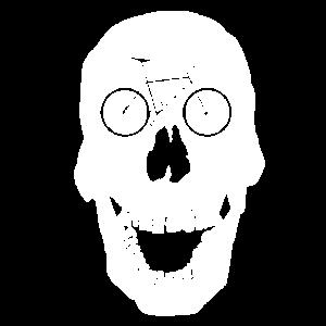 Skelett Schädel Knochen Fahrrad Radfahrer