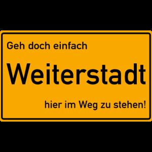 Weiterstadt Ortsschild