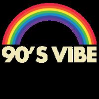 90s Jahre Regenbogen