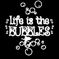 Meerjungfrau-Leben ist die Luftblasen