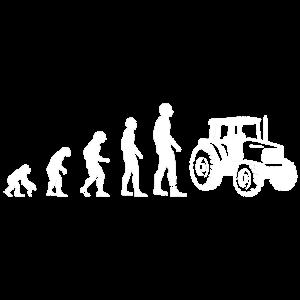 Evolution Traktor Trecker Landwirtschaft Bauer