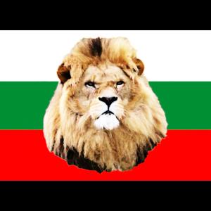 Bulgarien Flagge mit Löwe