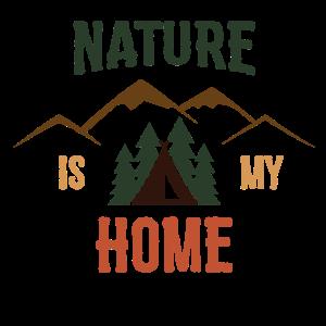Männer T-Shirt Nature is my Home