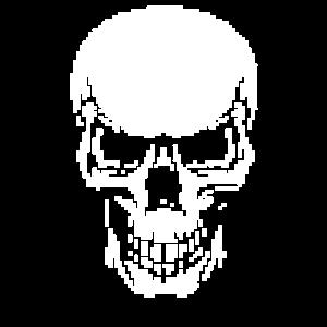 Totenkopf Skull Schädel Gamer Gaming Pixel