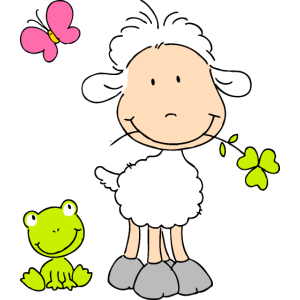 Sheep with Frog Friend