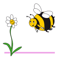 Hummel und Blume