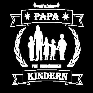 Stolzer Vater von wunderbaren Kindern Vatertag