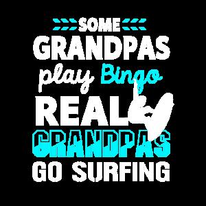 Surfen Großvater Opa Surfer Surfbrett Geschenk