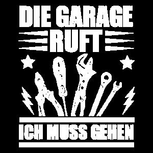 Die Garage ruft Ich muss gehen Auto KFZ Mechaniker