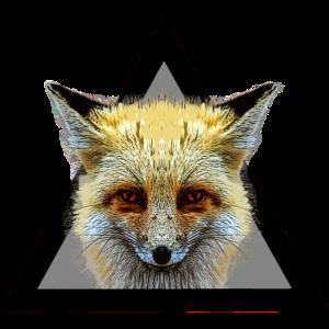 Hipster Fuchs Dreieck / What does the fox say?