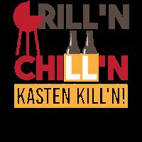 Grillen Chillen Bier Kasten Killen Sommer Design