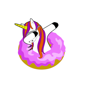 I Donut Care Dabbing Unicorn Einhorn