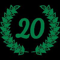 Jubiläum Geburtstag 20 zwanzig