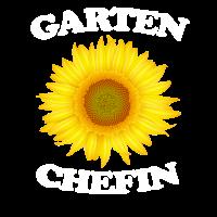 Garten Chefin mit Sonnenblume