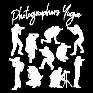 Lustiges Yoga Geschenk für Fotografen Silhouette